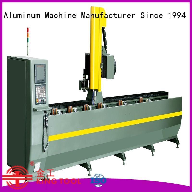 kingtool aluminium machinery profile aluminum copy router machine in workshop
