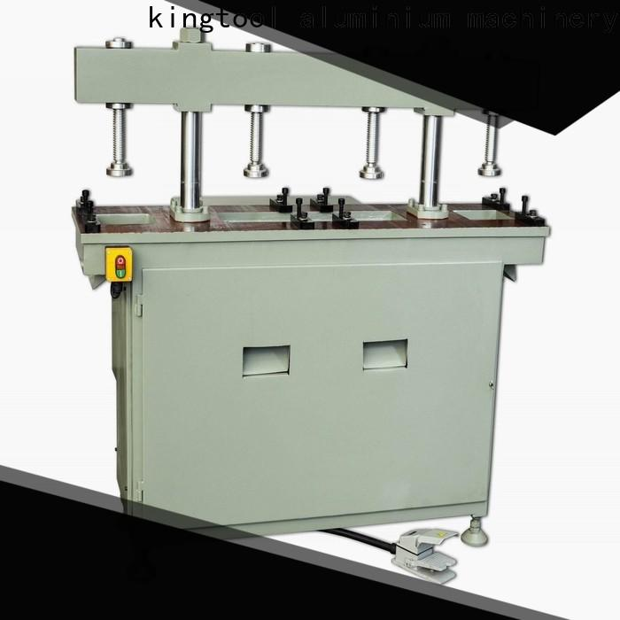 kingtool aluminium machinery fourcolumn steel hole punching machine free design for grooving