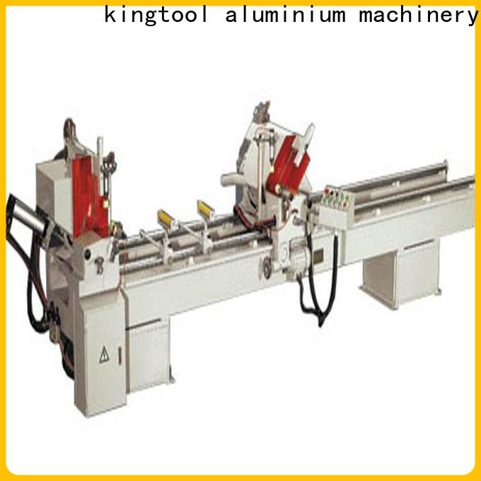 kingtool aluminium machinery durable automatic aluminium cutting machine for plastic profile in workshop
