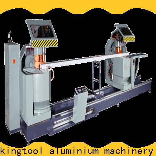 kingtool aluminium machinery curtain digital display double head saw free quote for metal plate