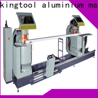 kingtool aluminium machinery durable digital display double head saw with cheap price for PVC sheets