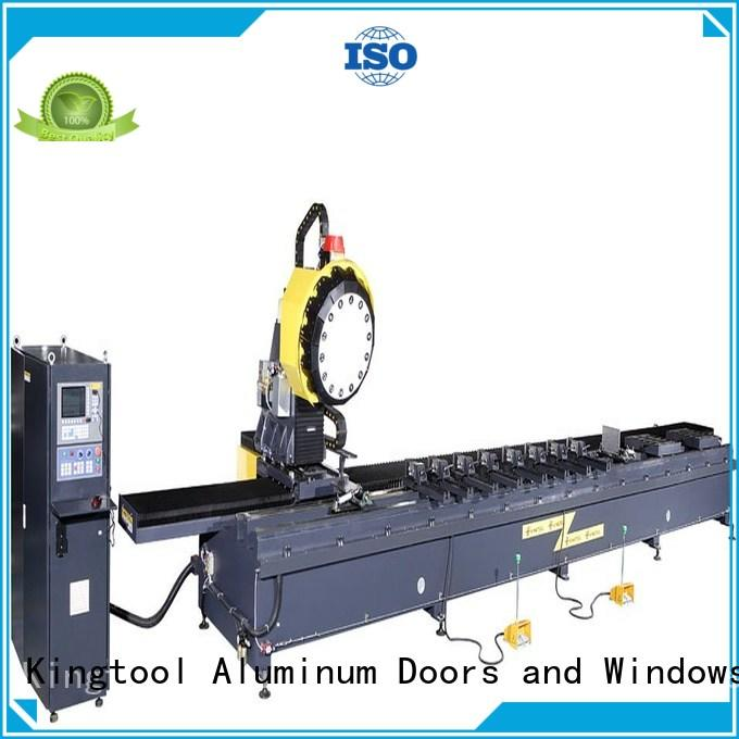 kingtool aluminium machinery best-selling digital display double head saw with cheap price for PVC sheets