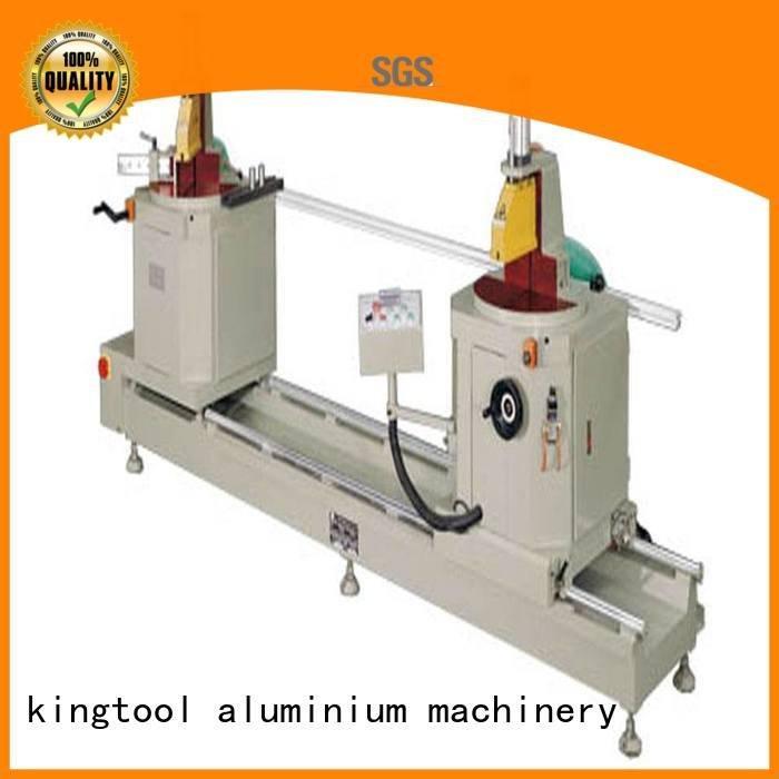threeblade notching sanitary sanitary profile cutting machine kingtool aluminium machinery