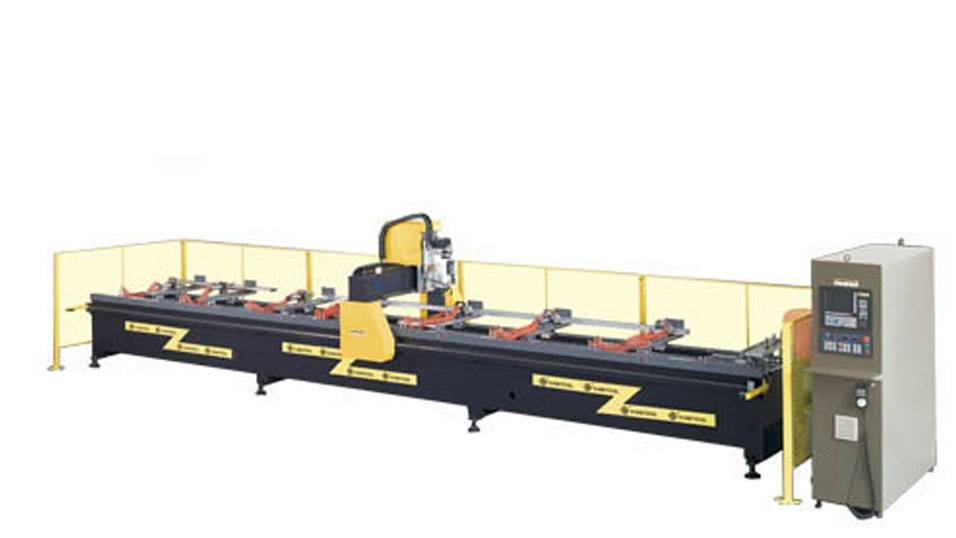 kingtool aluminium machinery KT-630CNC Aluminum Profile Machining Center CNC Router Aluminium CNC Router image16