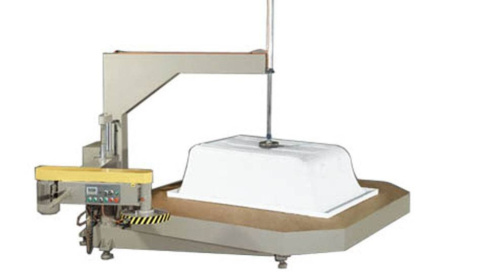 kingtool aluminium machinery KT-398J Turntable-Type Edge Trimming Machine in Heavy-Duty For Sanitary Ware Materia Sanitary Ware Machine image1