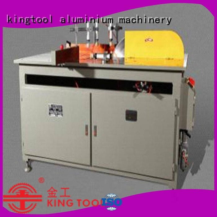 kingtool aluminium machinery mitre automatic aluminium cutting machine for curtain wall materials in factory