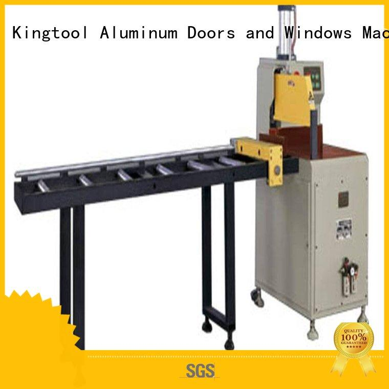 kingtool aluminium machinery easy-operating aluminum cutting machine for curtain wall materials in plant