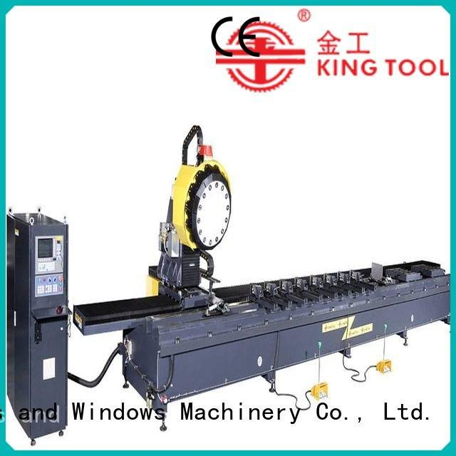 profile cutting machining cnc router aluminum kingtool aluminium machinery