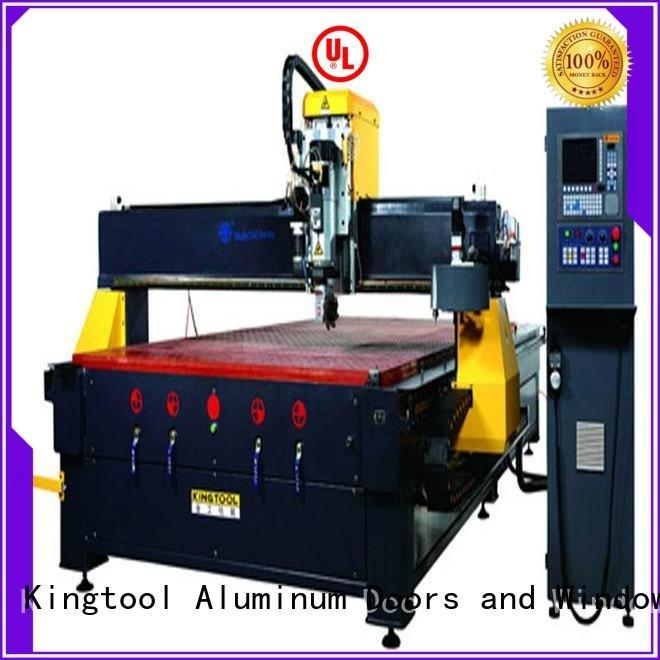 cnc router aluminum 3axis machining cutting kingtool aluminium machinery
