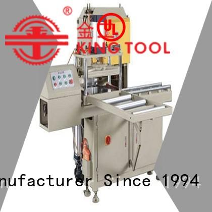 kingtool aluminium machinery turntabletype sanitary aluminum cutting machine in different color for PVC sheets