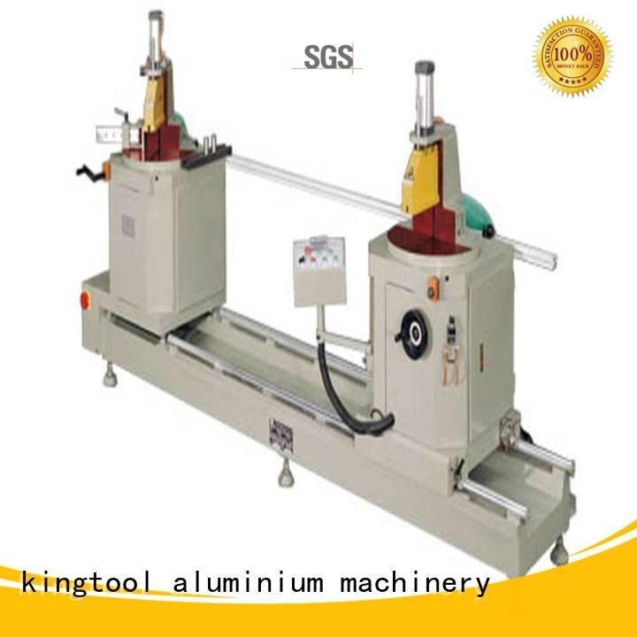 sanitary profile cutting machine turntable type trimming Sanitary Ware Machine kingtool aluminium machinery Warranty