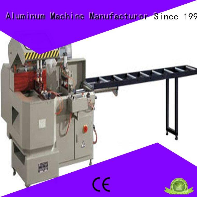 eco-friendly aluminium cutting machine price for plastic profile in factory