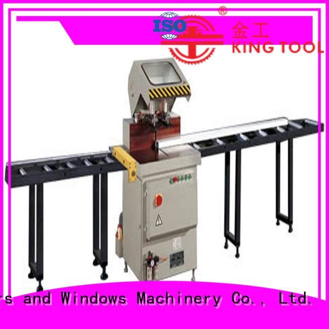 kingtool aluminium machinery adjustable aluminum cutting machine price profiles in workshop