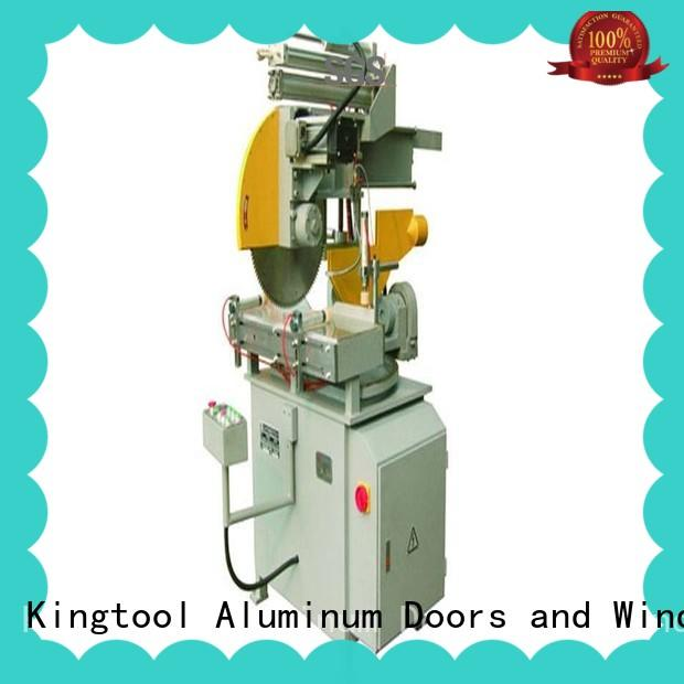 kingtool aluminium machinery manual automatic aluminium cutting machine for plastic profile in plant