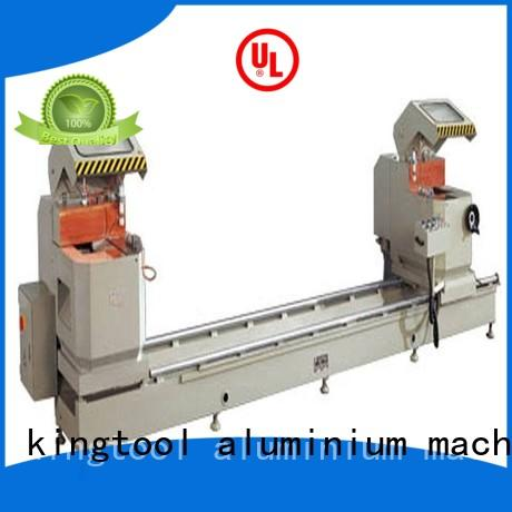kingtool aluminium machinery adjustable aluminium cutting machine price for aluminum curtain wall in plant