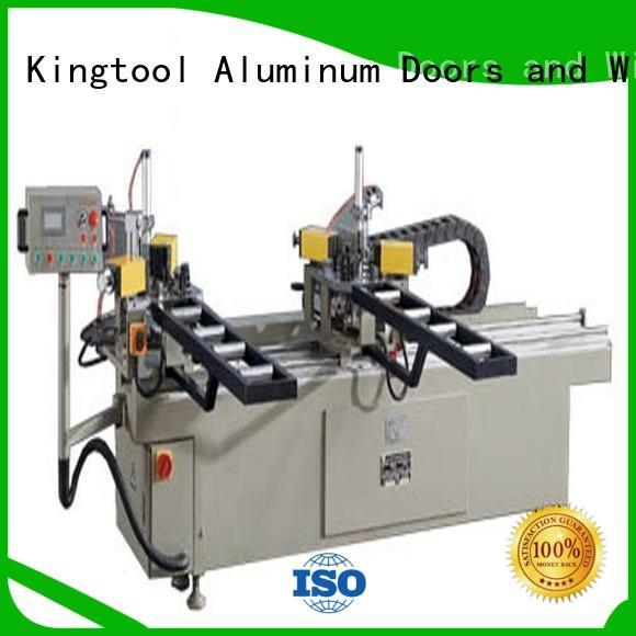kingtool aluminium machinery Brand doubl ecorner aluminium crimping machine hermalbreak factory